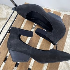 Eileen Fisher Liza ankle wrap shoe black size 7.5